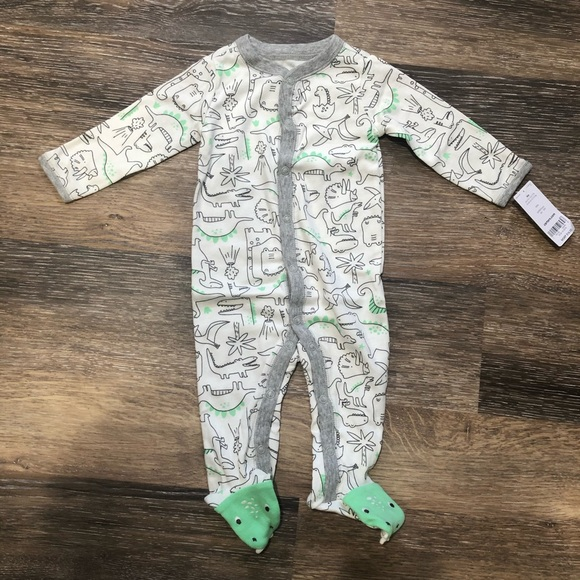 NWT Carters Dinosaur Baby Girls Footed Sleeper Pajamas Sleep Bag